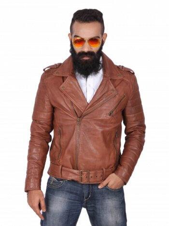Stylish Brown Biker Jacket