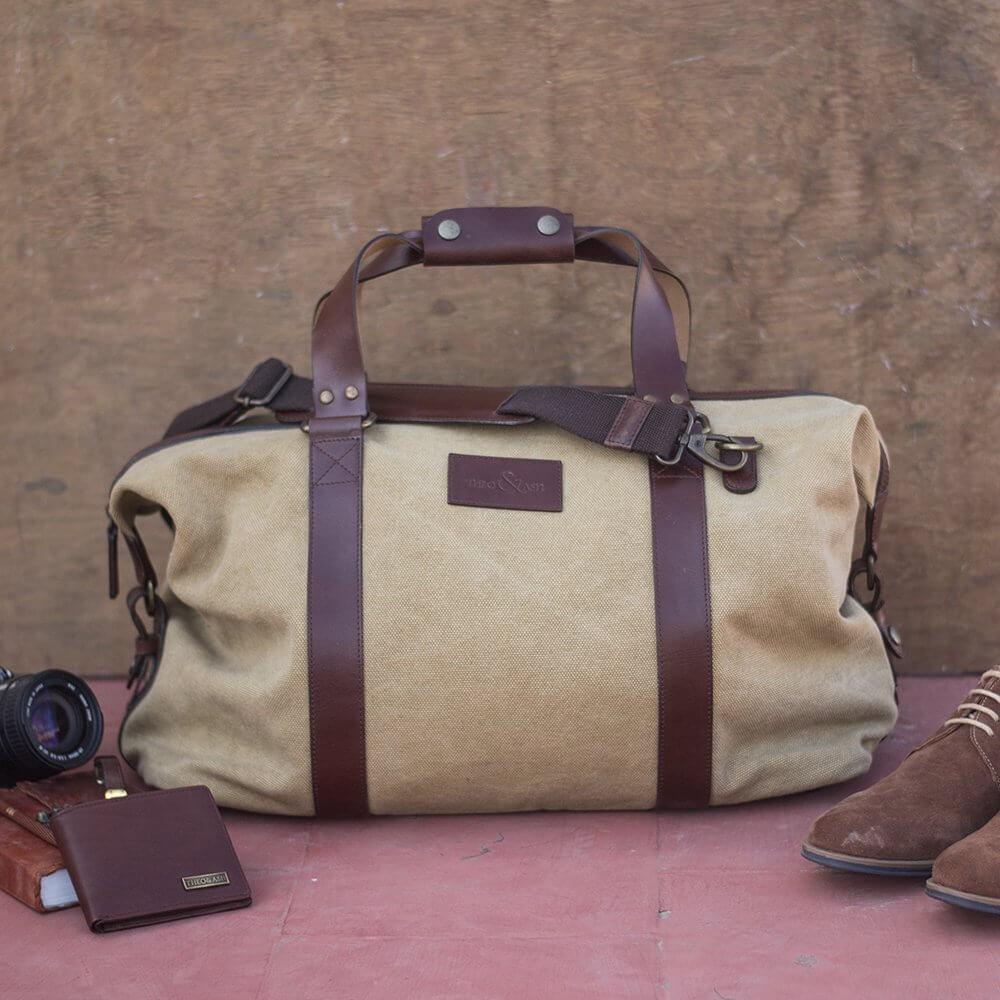 Theo Amp Ash Duffle Bag Buy Leather Luggage Online India