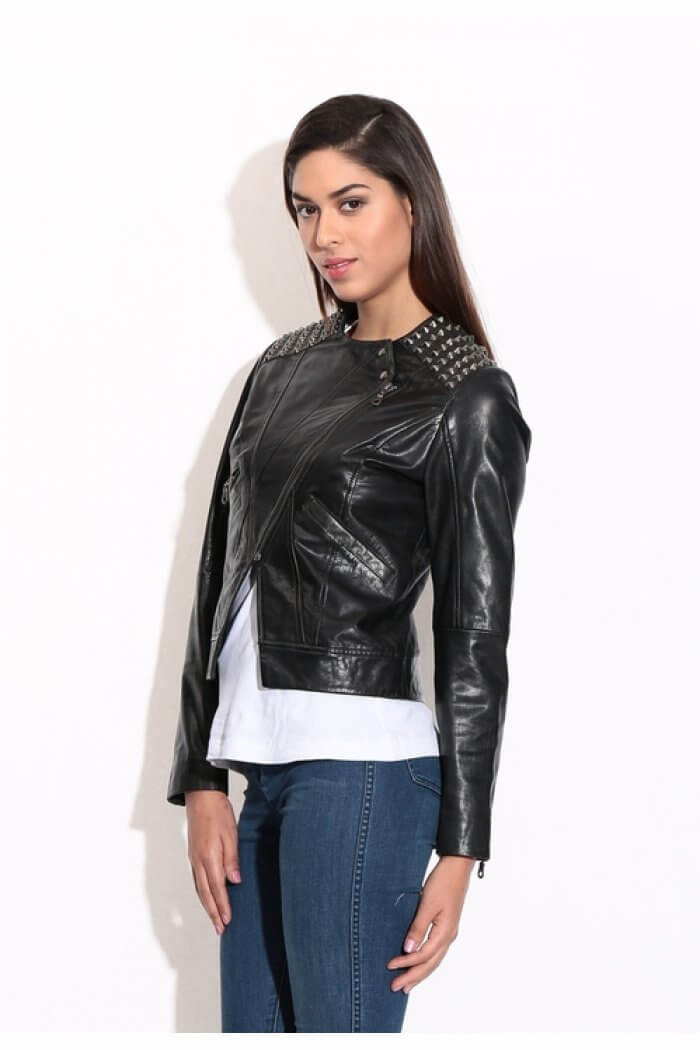 Buy online leather jacket