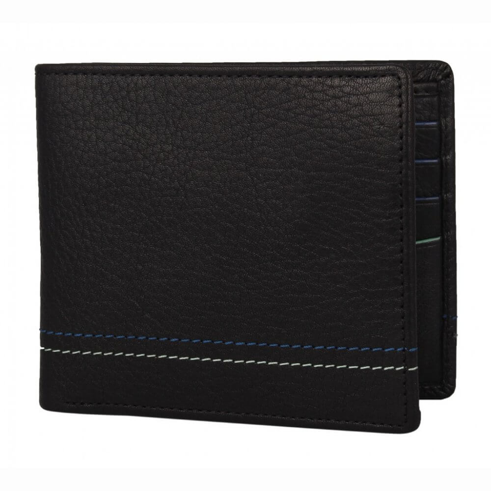 Theo Amp Ash Buy Black Lightweight Leather Wallet For Men