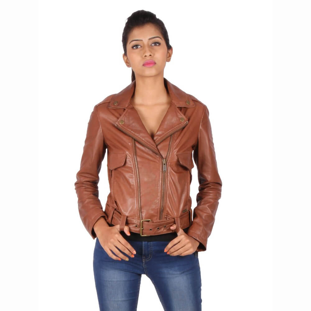 3bc665469e Theo&Ash - Buy Women's Leather Jacket Online | Personalized Leather Jackets  for Women | Nude tan color Jackets Online