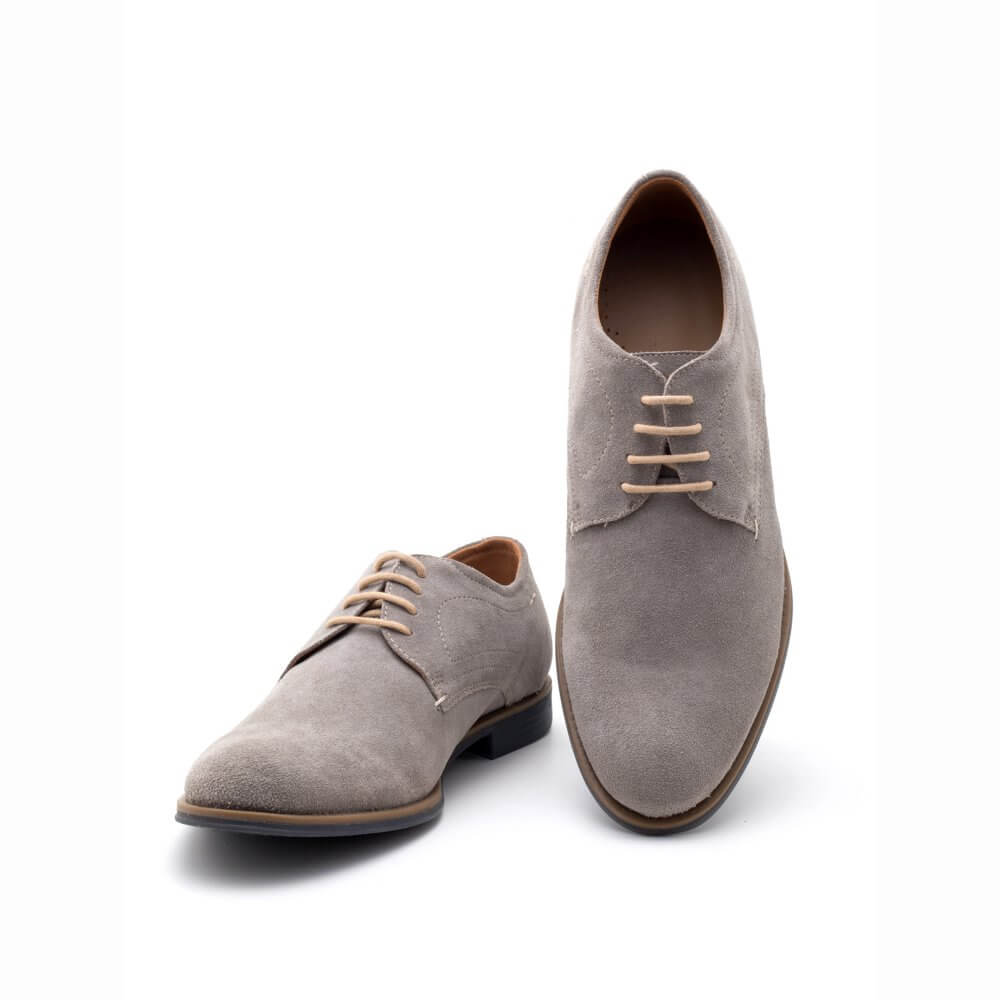 Theo\u0026Ash - Grey Suede Derby Shoes