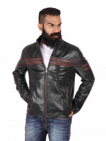 41a86929b4 Classic Black Leather Jacket. Stylish Motorcycle Jacket. Sale