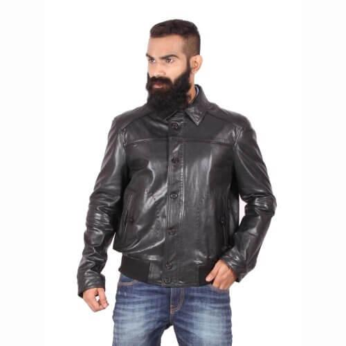 Theo Amp Ash Buy Stylish Bomber Leaher Jacket For Men Online