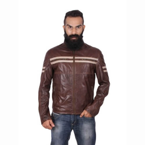 Stylish Brown Motorcycle Jacket