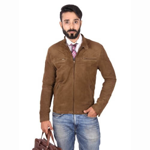 Classic Suede Leather Jacket