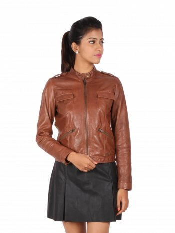 Classic Zipper Leather Jacket