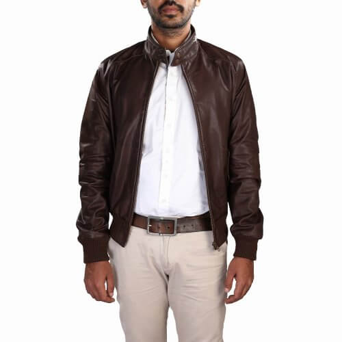 Men's Brown Bomber Jacket