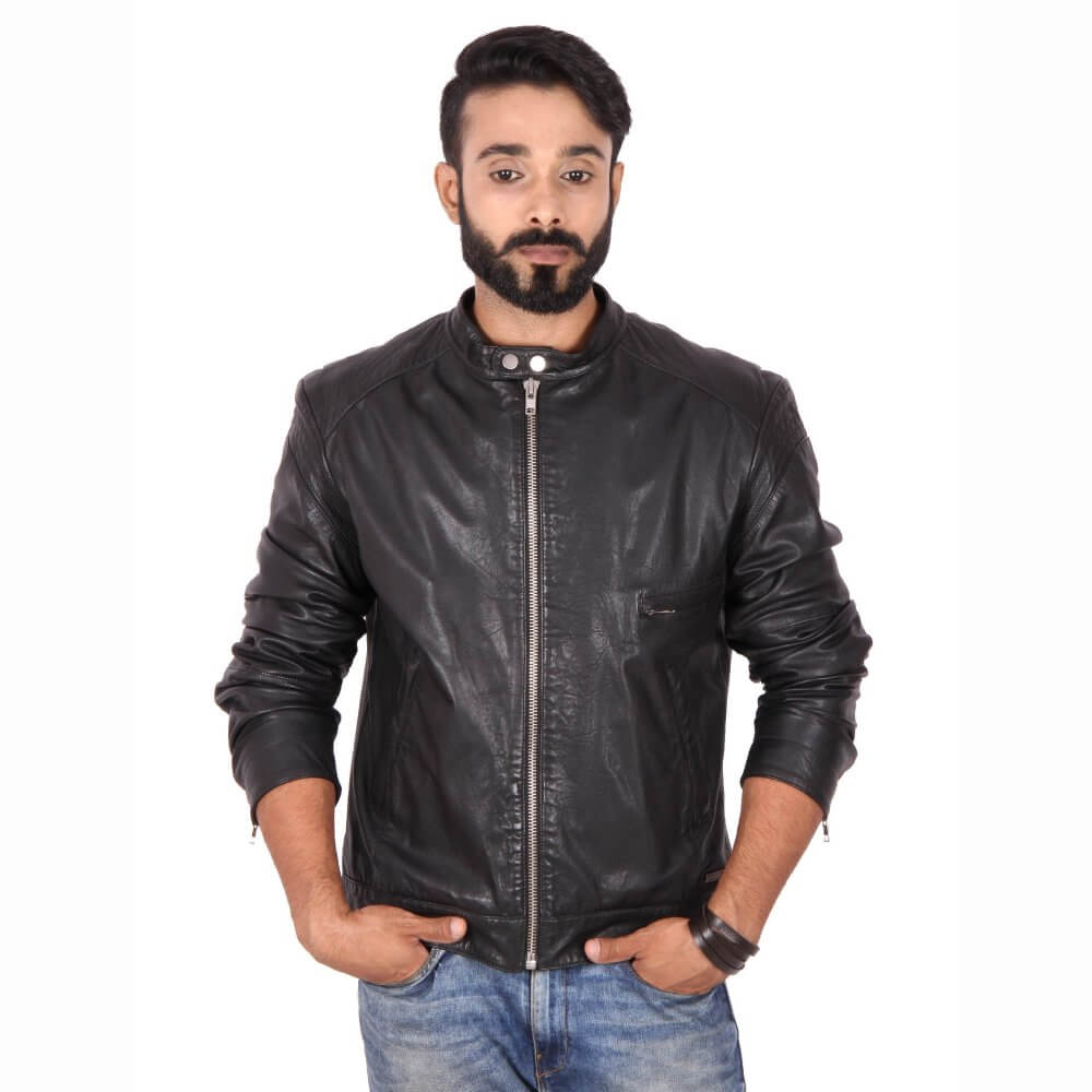 9093aad2b9585 Theo Ash - Buy Stylish Black Motorcycle Jacket for Men Online in India –  Theo Ash