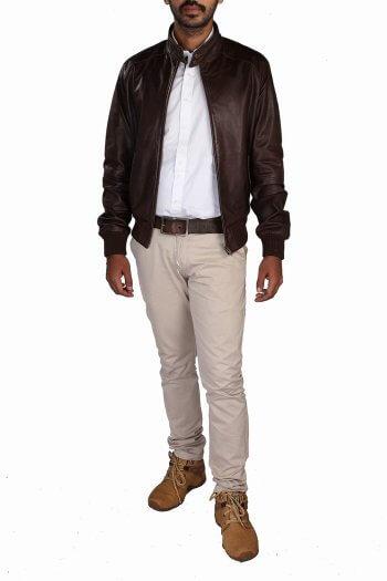 Men's Brown Bomber Jacket