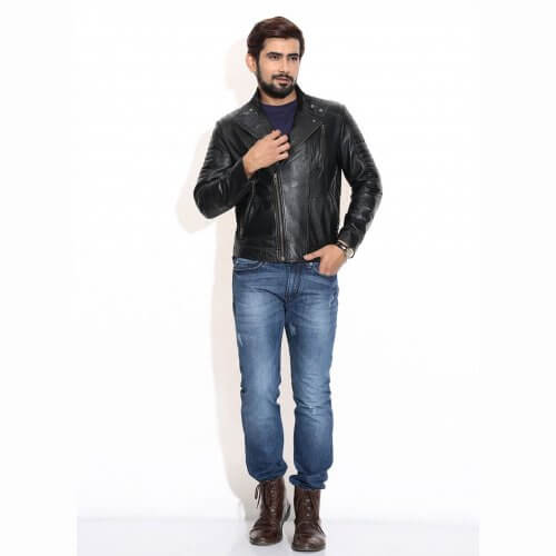 Classic Biker Leather Jacket