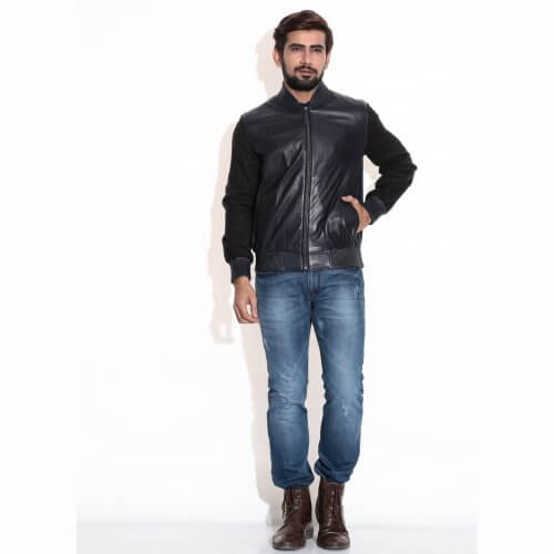 Men's College Leather Jacket