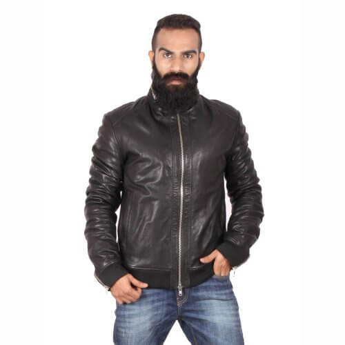 Stylish Black Bomber Jacket
