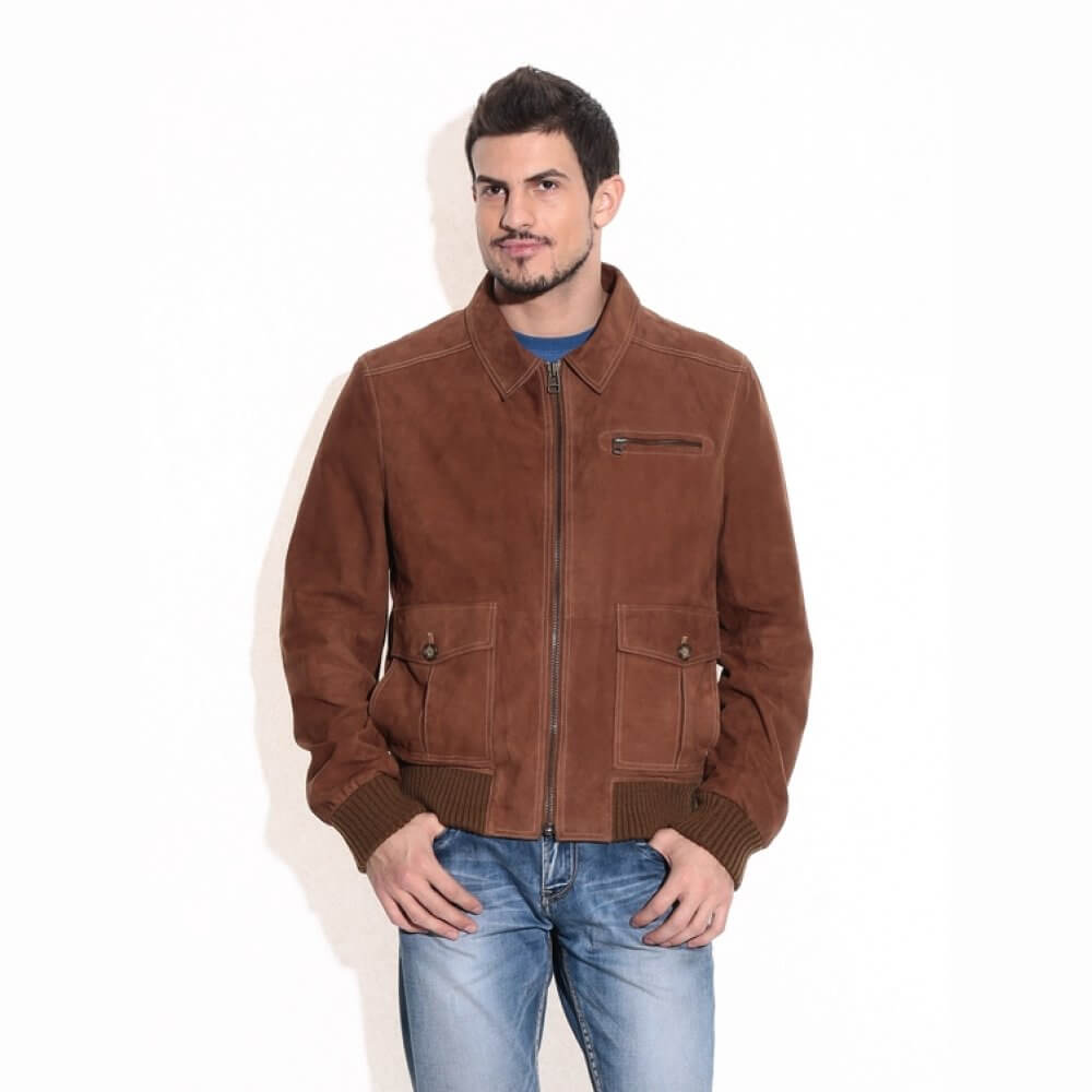 Theo Ash Buy Men S Leather Jackets Online Classic Pilot Suede