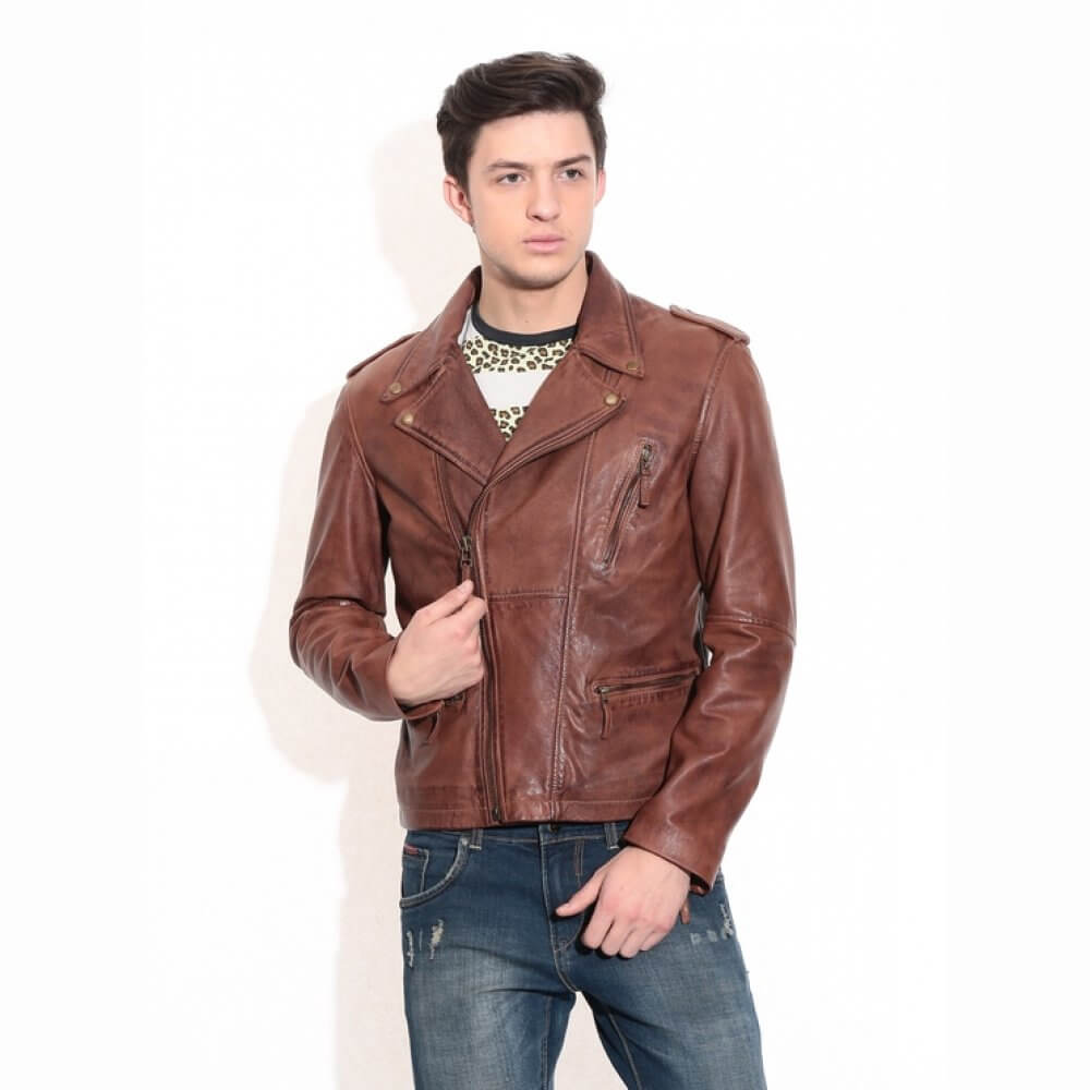 3dc210ce Theo&Ash - Buy men's leather jackets online, classic biker leather jacket  India | theoandash.com