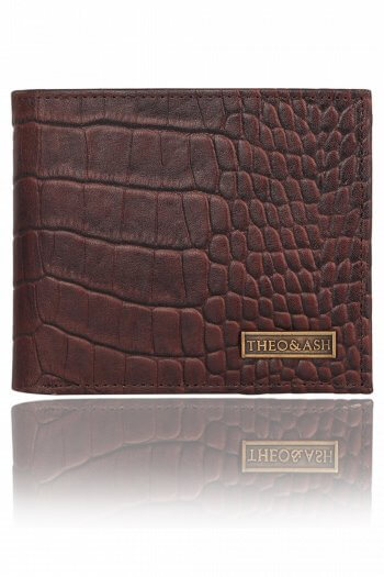Croc Printed Leather Wallet