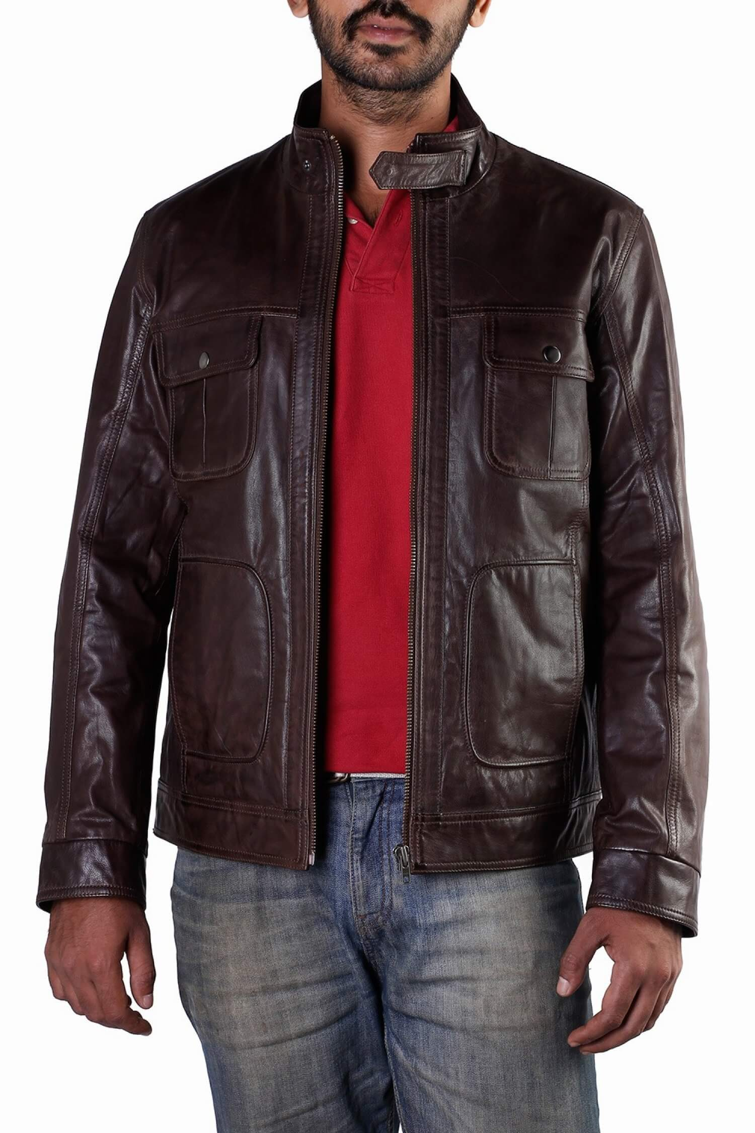 Theo&Ash - Buy men's leather jackets online, field leather jacket ...
