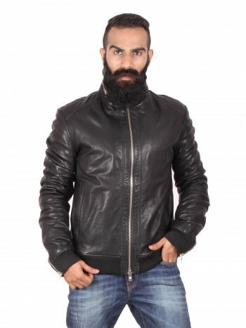 Stylish Black Bomber Jacket