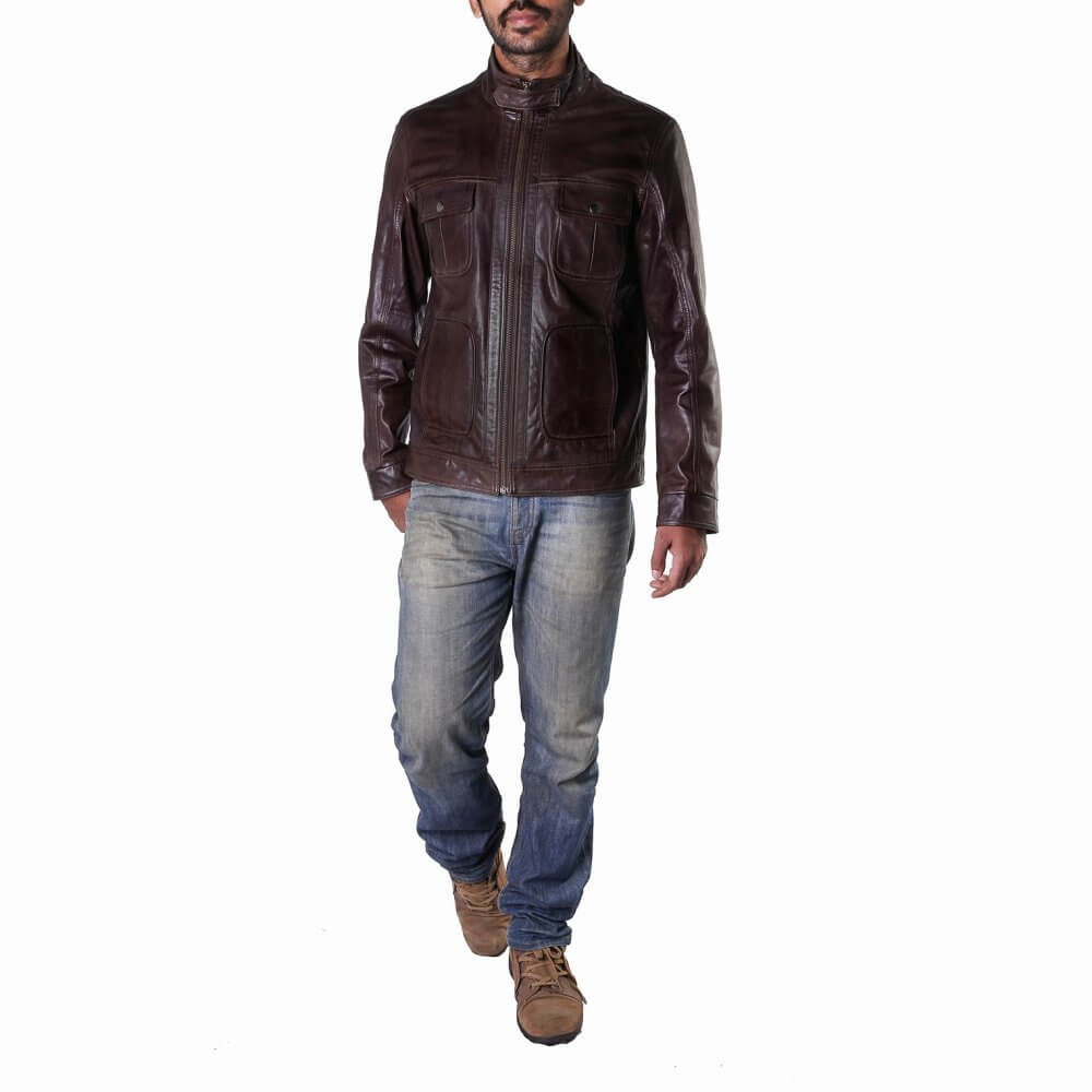 Theo Ash Buy Men S Leather Jackets Online Field Leather Jacket India