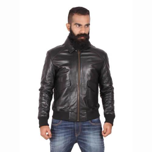 Classic Black Bomber Jacket