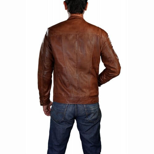Men's Brown Biker Leather Jacket