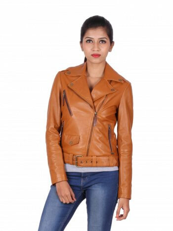 Vintage Brown Biker Jacket