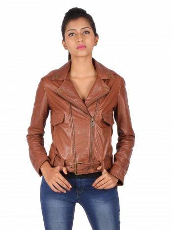 Classic Tan Biker Jacket