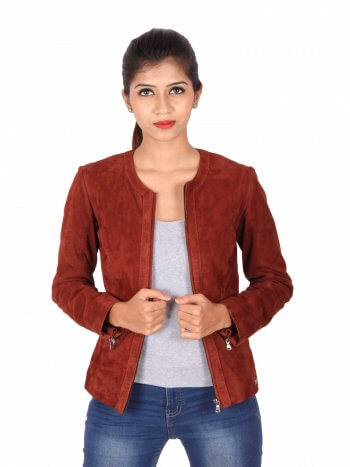 Classic Red Zipper Jacket