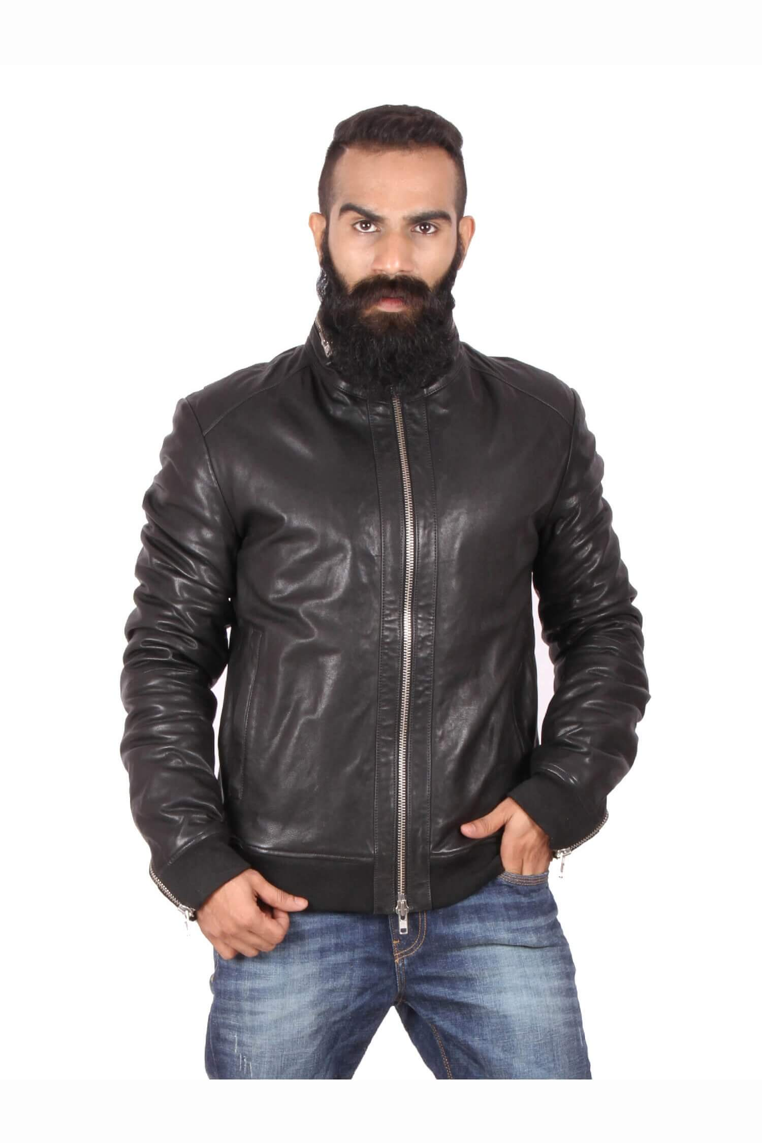 Theo&Ash - Buy Stylish Black Leather Jacket for Men Online in ...