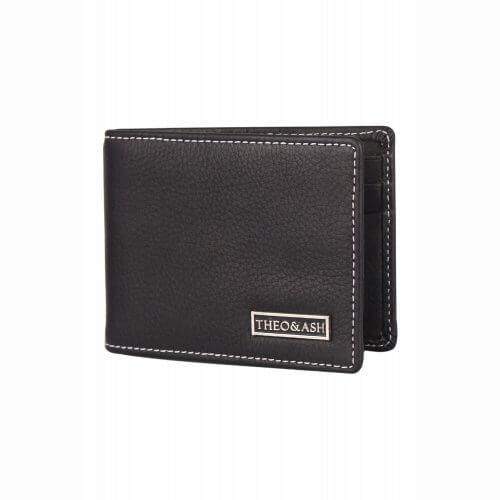 Theo Amp Ash Buy Black Colour Slim Money Clip Leather Wallet
