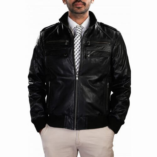 Men's Black Vintage Leather Jacket