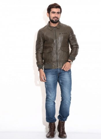 Men's Classic Pilot Leather Jacket