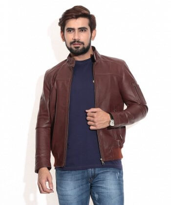 Classic Brown Bomber Jacket