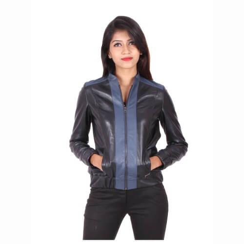 Stylish Bomber Leather Jacket