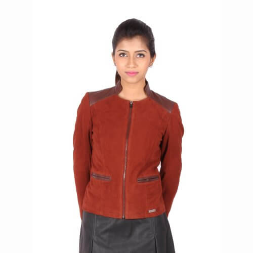 Red Suede Leather Jacket