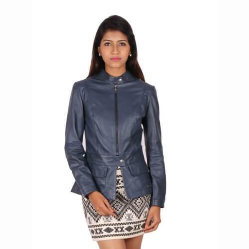Stylish Zipper Leather Jacket