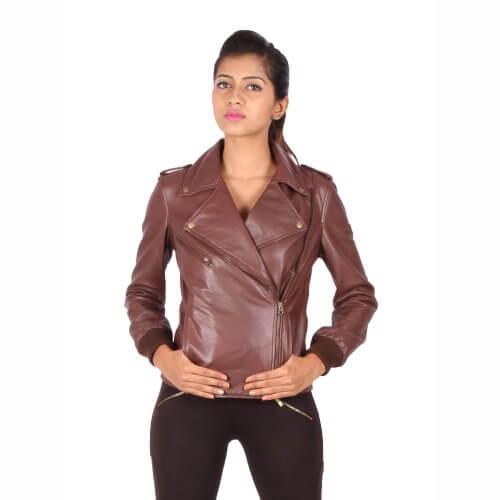 Vintage Brown Biker Jacket
