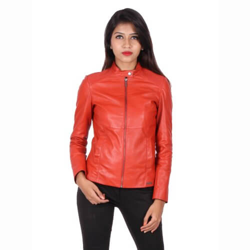 Stylish Zipper Leather jacket