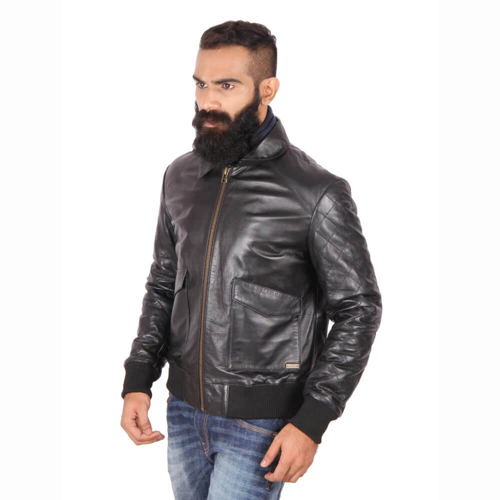 Theo Amp Ash Buy Classic Black Bomber Jacket For Men Online