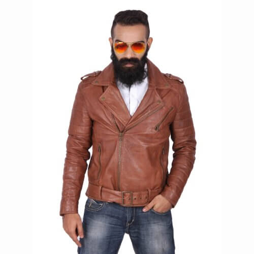 Stylish Brown Biker Jacket