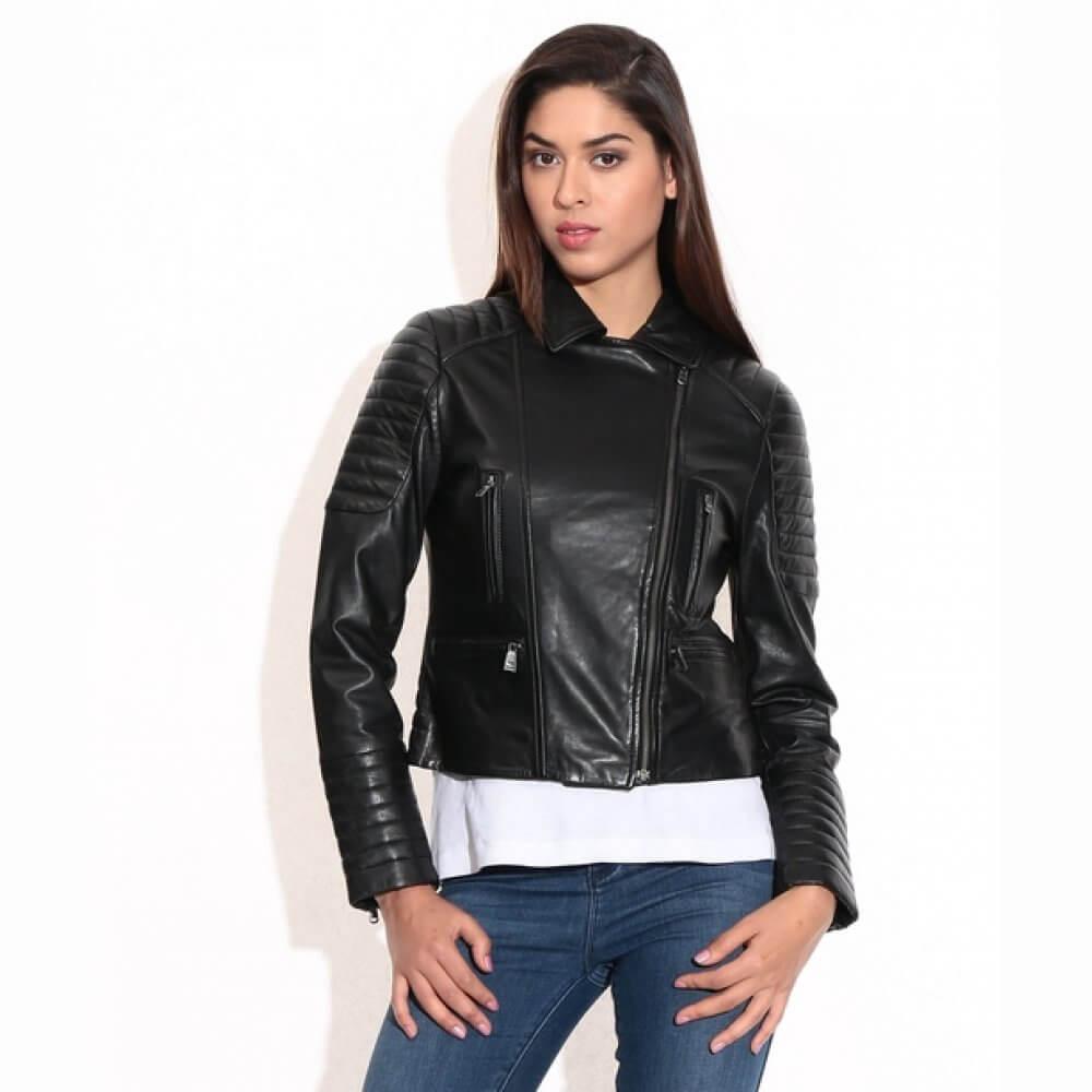 Theo Ash Buy Biker Leather Jacket For Women Black Leather Jacket