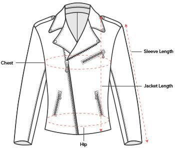 Women's Leather Jacket Sizing Chart